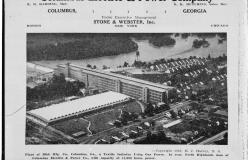 A publication from the Columbus Electric and Power Company showing the Bibb Manufacturing Company in Columbus, Georgia, 1923. Courtesy of Library of Congress (HAER Georgia, 108-COLM 27- 10)