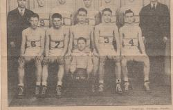 1943 Markleville Basketball Team. Courtesy of Patty Mauck.