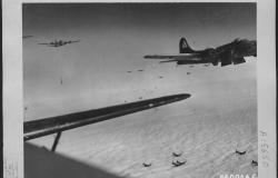 B-17 bombers flying over Europe in 1943. U.S. Air Forces. National Archives and Records Administration [342-FH-3A06281]