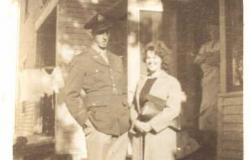 "Alexander and newlywed wife, Evelyn, c. 1943. Courtesy of Iris ""Peg"" Bailey."