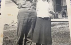 "Alexander and younger sister, Iris ""Peg"" Bailey at their home in Pittsfield, Maine. Courtesy of Iris ""Peg"" Bailey."