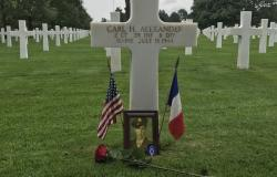 Alexander's gravesite in the Normandy American Cemetery, 2017. Courtesy of Madison Taylor
