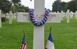 First Sergeant William A. Andersen's Grave, 2017. Courtesy of Cathy Gorn