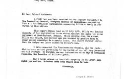Letter about Andersen's death, January 3, 1945. IDPF