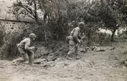 U.S. Troops on the road to Saint-Lô, July 18, 1944. National Archives and Records Administration (208-AA-20N-4)