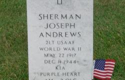 The grave of Sherman J. Andrews at Jefferson Barracks National Cemetery in St. Louis, Missouri. Courtesy of Brian Schaffer.