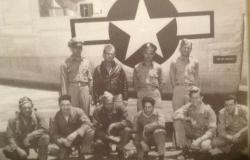 Sherman J. Andrews and his bomber crew, Andrews is second from the right in the back row. Courtesy of Brian Schaffer.