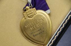 Private Bremer's Purple Heart. Courtesy of Douglas Harper