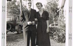 William and Norma Bremer's wedding photograph, 1938. Courtesy of Douglas Harper