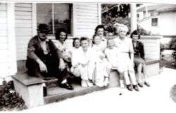 Tony A. Burnett, Jr.'s family in Santa Barbara, California, days before his deployment. According to his niece, he took this photograph of his family while he was visiting them, presumably as a memento to bring with him. Courtesy of Emilie Kendrick