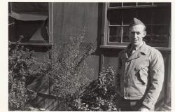 A photograph of Roderick Doyle is in World War II uniform. Courtesy of Kenton Warwick.