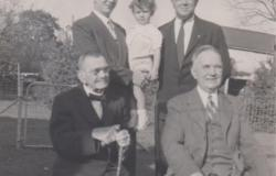 The five living generations of Duckworths. Top row from left: Edmund's brother James, son Patrick, and father, Leon. Bottom row from left: Edmund's great grandfather, Charles and grandfather Clinton. Courtesy of Andrea Wojcik