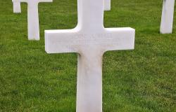 Soini A. Hall's grave in Normandy. Courtesy of Matthias Moreau