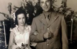 The wedding of First Lieutenant Fieldon B. Huie, Jr. and Ruth Jumper, August 7, 1943. Courtesy of Reeves Huie