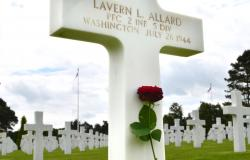 Allard's Gravesite at Normandy American Cemetery, June 2016. Courtesy of Hannah Doyle