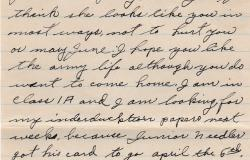 An excerpt of a letter from Worth Jackson to Donovan Jackson expressing his desire to serve, 1943. Courtesy of Patty Mauck.