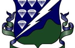Distinctive unit insignia of the 506<sup>th</sup> Infantry Regiment. Wikimedia Commons.