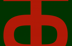 "The insignia of the 90<sup>th</sup> Infantry Division, the ""Tough Ombres."" Wikimedia Commons."