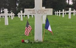 Sergeant Hillary I. Pritchett's grave in Normandy American Cemetery, June 27, 2017. Courtesy of Jose Garcia