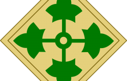 4<sup>th</sup> Infantry Division insignia patches. Wikimedia Commons.