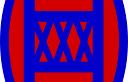 30<sup>th</sup> Infantry Division inisgnia. Wikimedia Commons.
